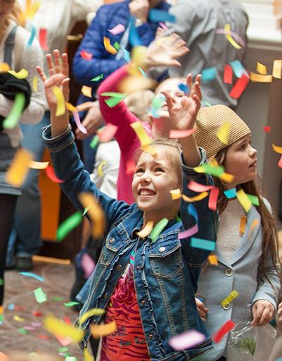 Дети на открытии Стены Неравнодушных в «Мастерславле», посвященном 70-летию Победы