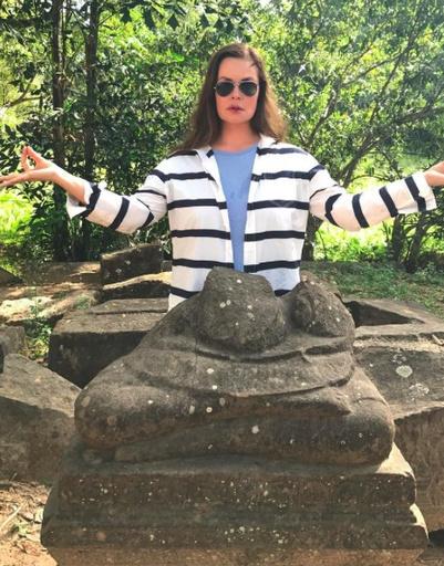 Телеведущая Екатерина Андреева проводит каникулы в Камбодже