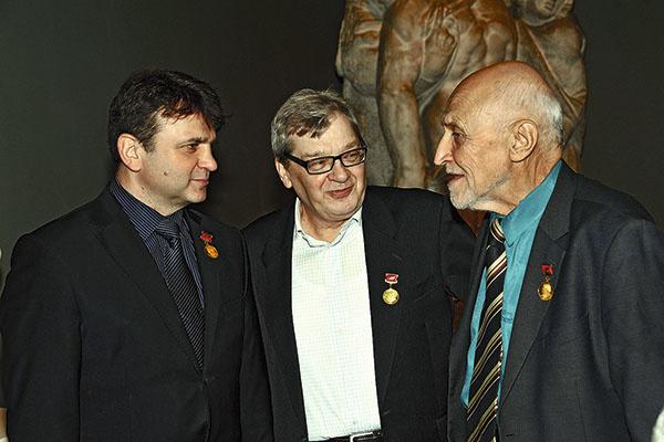 На награждении в Кремле с Тимуром Кизяковым и Николаем Дроздовым