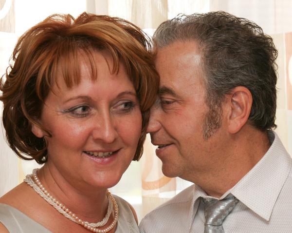 Артист с супругой Еленой