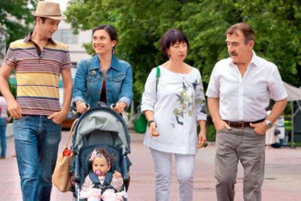 Леонид Каневский с семьей