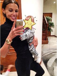 Оксана Самойлова с маленькой Леей