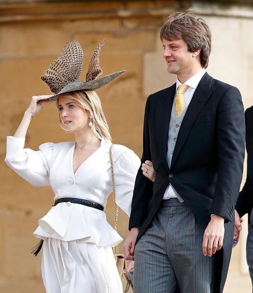 Екатерина Малышева с мужем на свадьбе принцессы Евгении