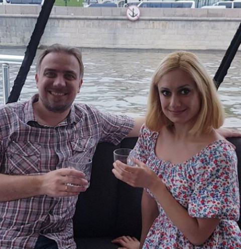 Карина Мишулина с мужем Иваном
