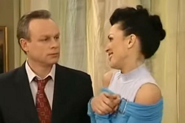 Сергей Жигунов и Анастасия Заворотнюк. Кадр из фильма «Моя прекрасная няня»