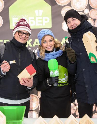Группа «Сухие» и ведущая Виктория Герасимова