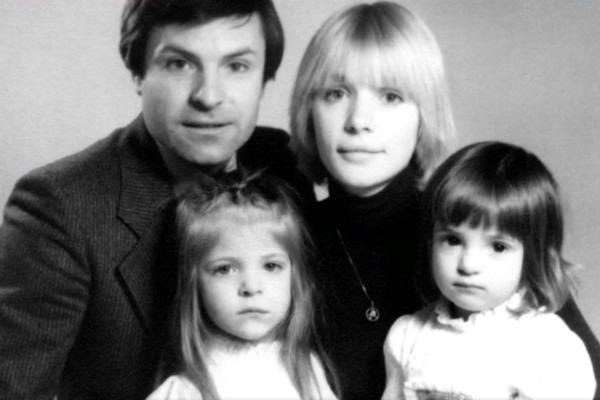 Вера Глаголева с семьей
