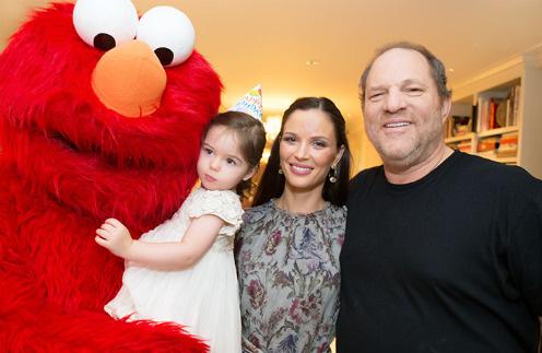 С женой Джорджиной Чапман и дочкой Индией