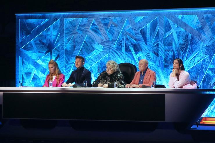 Тарасова в жюри на съемках телепроекта «Ледниковый период» на Малой спортивной арене «Лужников»