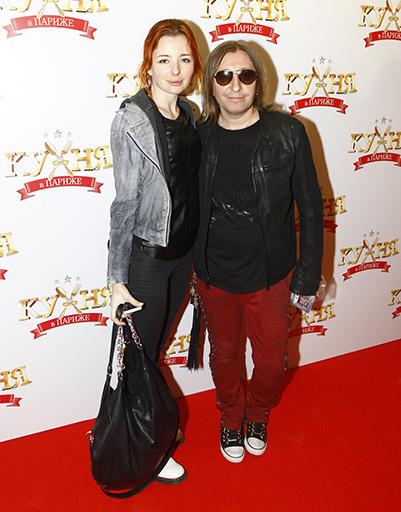 Шура Би-2 с женой Елизаветой