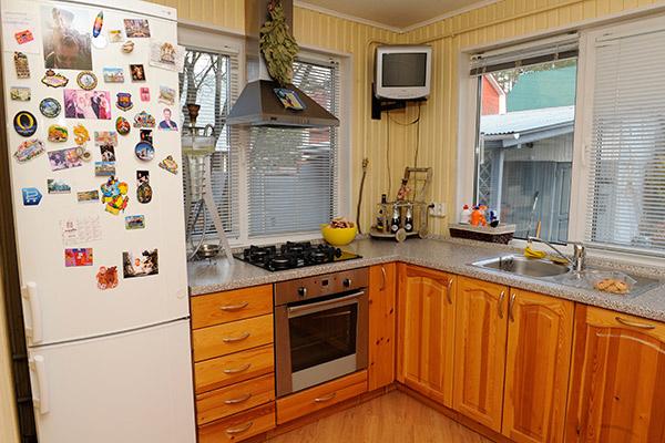 На кухне у Антона всегда чистота