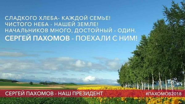 Агитационный плакат Сергея Пахомова