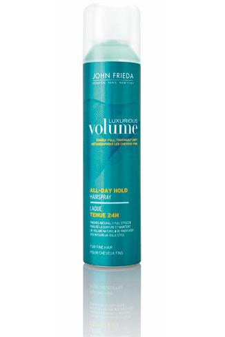 John Frieda  Лак для придания объема длительной фиксации Luxurious Volume All-Day Hold Hairspray, 495 руб.