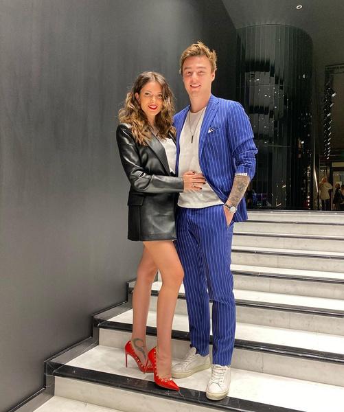 Катя Жужа с мужем Артемом Маркеловым