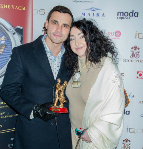 Супруги на церемонии вручения премии «Пара года»
