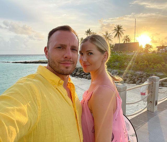 Тимур Соловьев и его супруга Анна на отдыхе на Мальдивах