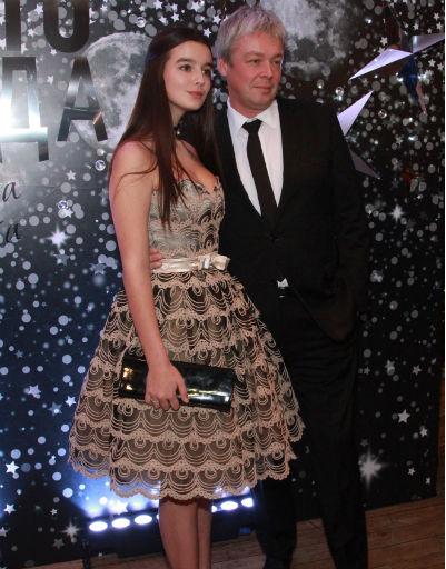 Александр Стриженов с дочерью Сашей