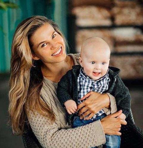 Ольга Казаченко с сыном Филиппом