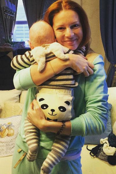 Наталья Подольская с сыном Артемием