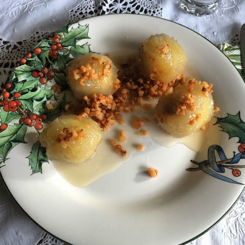 Картофельные клецки - любимое лакомство модели