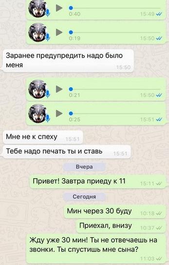 Алексей Самсонов предупреждал бывшую жену о своем приезде