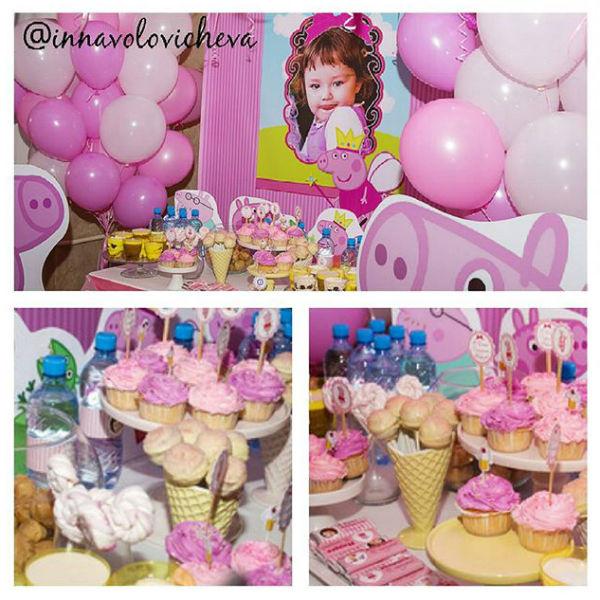Главным цветом дня рождения маленькой Маши стал розовый