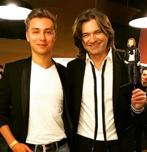 Дмитрий Маликов с племянником Димой