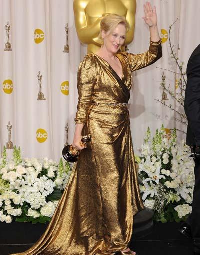 Безусловный лидер - Мерил Стрип, доказавшая, что женщины в возрасте могут быть элегантными победительницами. 2012 год