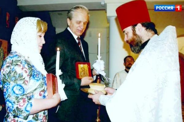 Евгений Стеблов со второй женой Любовью