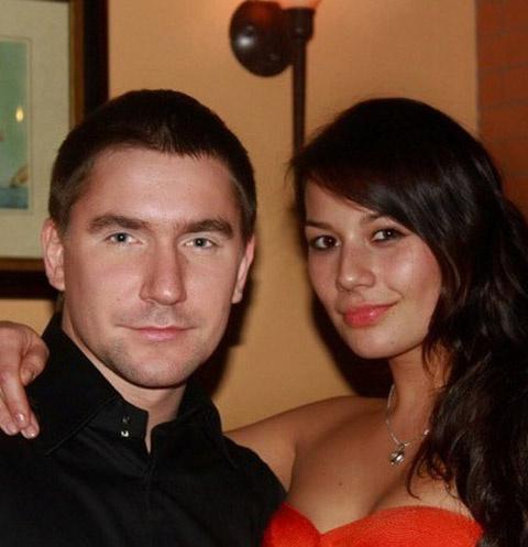 Олег Винник с погибшей женой Марианной