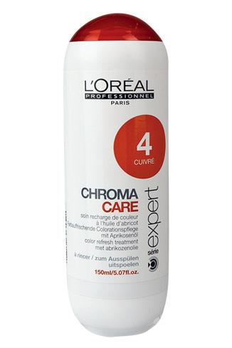 L'Oreal Professionnel, оттеночный шампунь Chroma Care, №04 «Золотая медь», 900 руб.