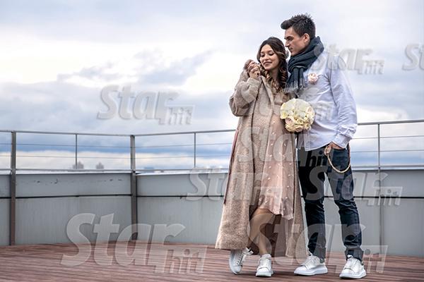 После регистрации брака Влад и Регина устроили романтическую фотосессию на крыше