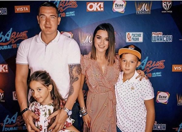Ксения Бородина с семьей