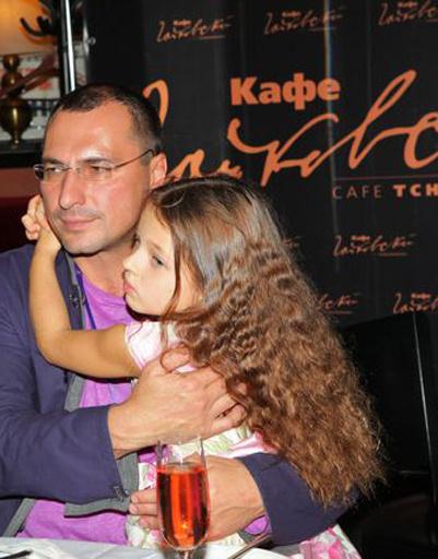 Ариадна с папой, Игорем Вдовиным