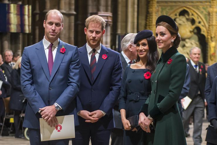 Уильям, Гарри и их жены посещают вместе только важные семейные мероприятия