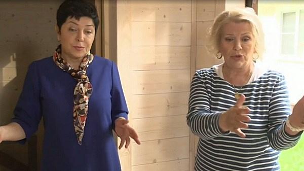 Галина Польских и ведущая передачи Наташа Барбье