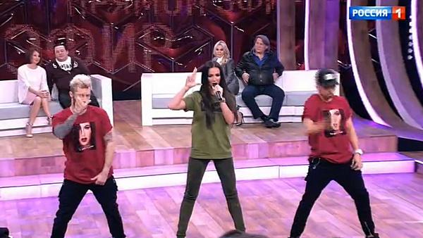 В конце передачи Ольга исполнила один из своих хитов