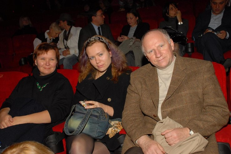 Баринов с третьей женой Еленой и дочерью Александрой