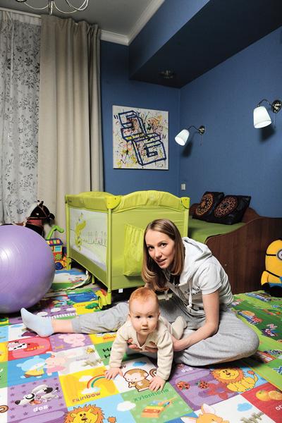 Для сына Галина и Сергей сделали отдельную игровую комнату