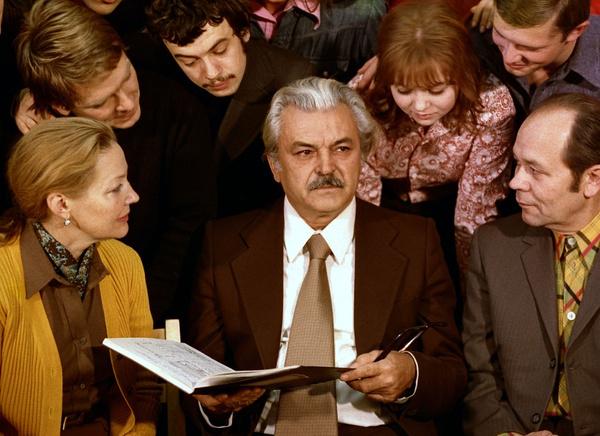 Сергей Бондарчук и Ирина Скобцева с учениками