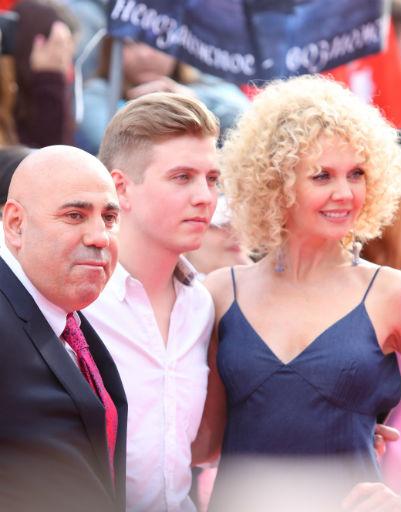 Валерия с сыном Артемием и Иосиф Пригожин