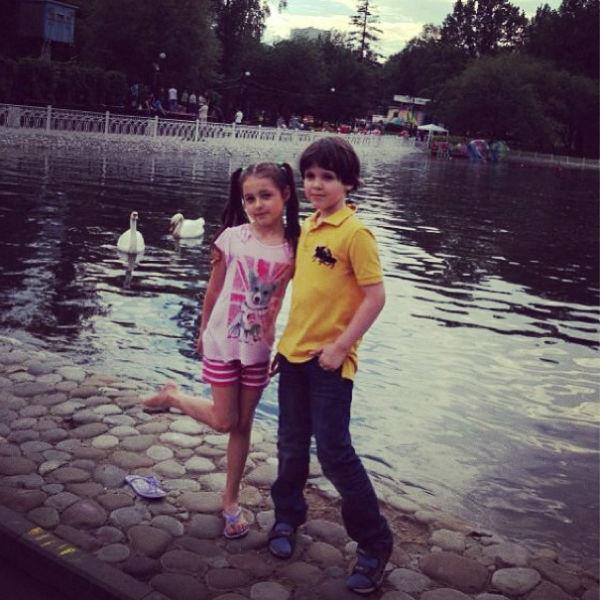 Ариша и ее друг Сергей