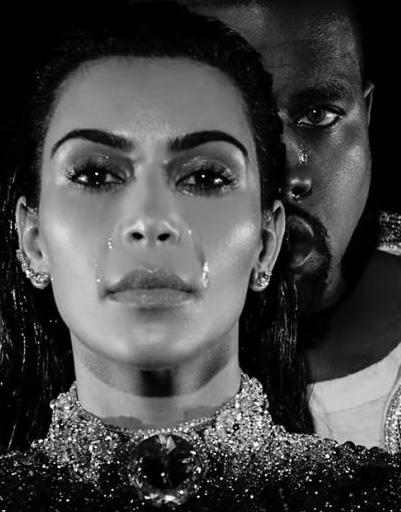 Плачущую Кардашьян можно было увидеть в клипе ее мужа на композицию «Wolves»