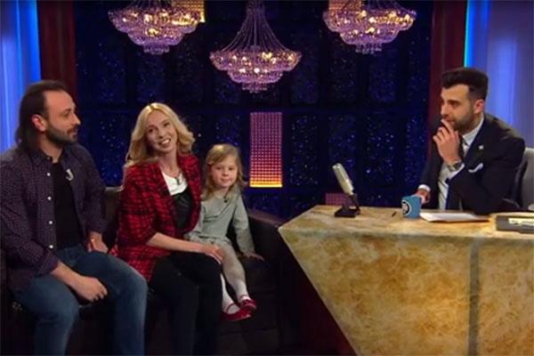 Илья Авербух, Татьяна Тотьмянина и ее дочка Лиза в гостях у Ивана Урганта