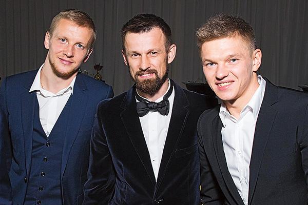 «Зенит» представляли Игорь Смольников, Сергей Семак и Олег Шатов