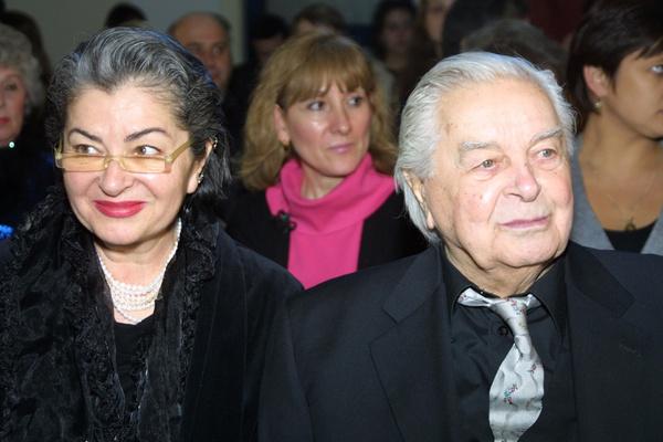 Юрий Любимов с женой Каталиной