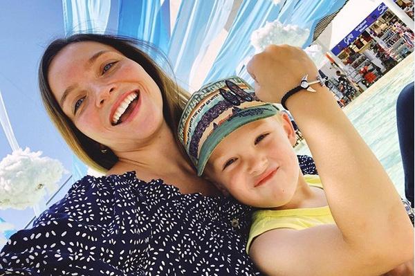 Наталья с сыном Ваней