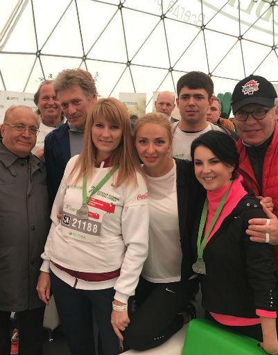 Дмитрий Песков, Татьяна Навка, Светлана Журова и Ирина Слуцкая
