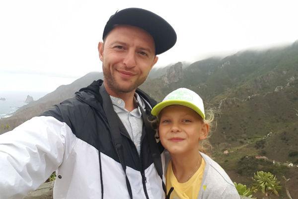 Дочь Ромы Ольга Билык с отцом