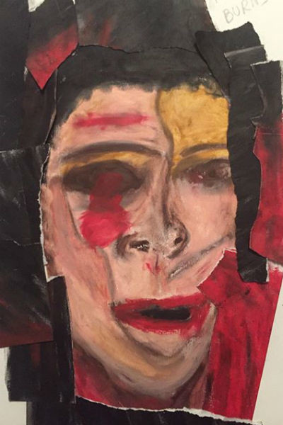Картина, которую дочь Успенской написала после терактов в Париже